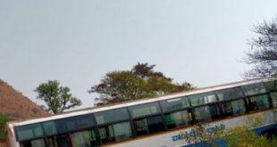 ಬಸ್ ಬ್ರೇಕ್ ಫೇಲ್: ಚಾಲಕನ ಸಮಯ ಪ್ರಜ್ಞೆಯಿಂದ ತಪ್ಪಿದ ದುರಂತ