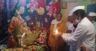 ಮಹಾಲಿಂಗೇಶ್ವರ ನಗರ ಗೋಕಾಕ ನಲ್ಲಿ ಬಸವರಾಜ ಸಾಯನ್ನವರ ಅವರಿಂದ ಸರಳ ರೀತಿಯಲ್ಲಿ ಗಣೇಶ್ ಉತ್ಸವ ಆಚರಣೆ