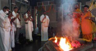 ಜನ ಕಲ್ಯಾಣಕ್ಕಾಗಿ ನವ ಚಂಡಿಕಾ ಹೋಮ ನೆರವೇರಿಸಿದ ಕೆಎಂಎಫ್ ಅಧ್ಯಕ್ಷ ಬಾಲಚಂದ್ರ ಜಾರಕಿಹೊಳಿ